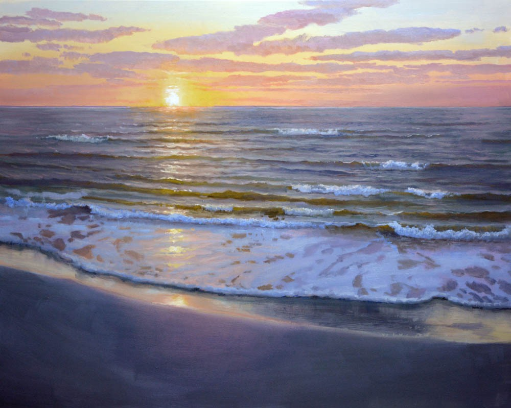 """Here  Comes The Sun   30"""" x 40"""" Oil    *  SOLD! *"""