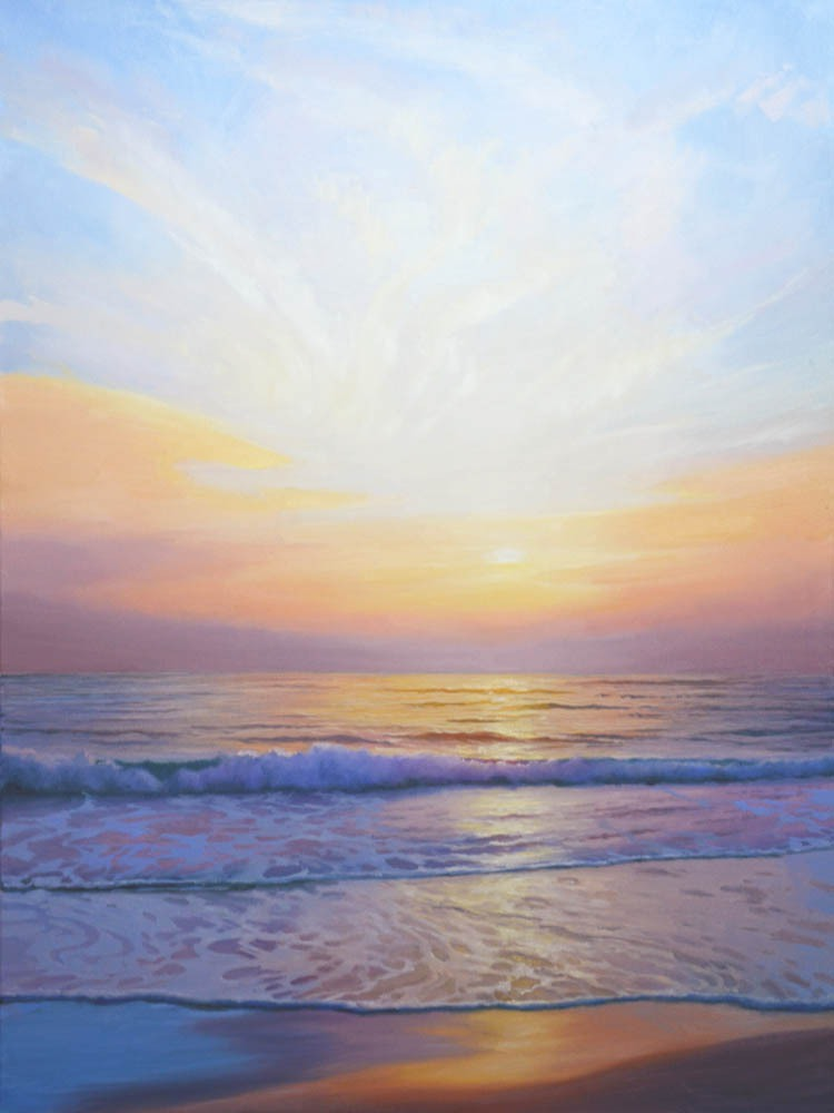 "Let the Heavens Rejoice & the Sea Resound   48"" x 36"" Oil"