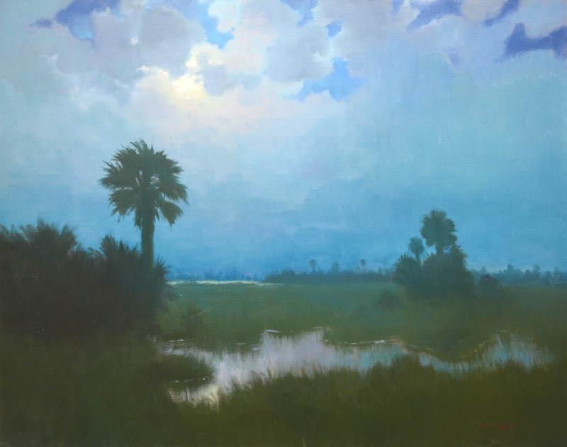 "Moonlit Beach   24"" x 30"" Oil"
