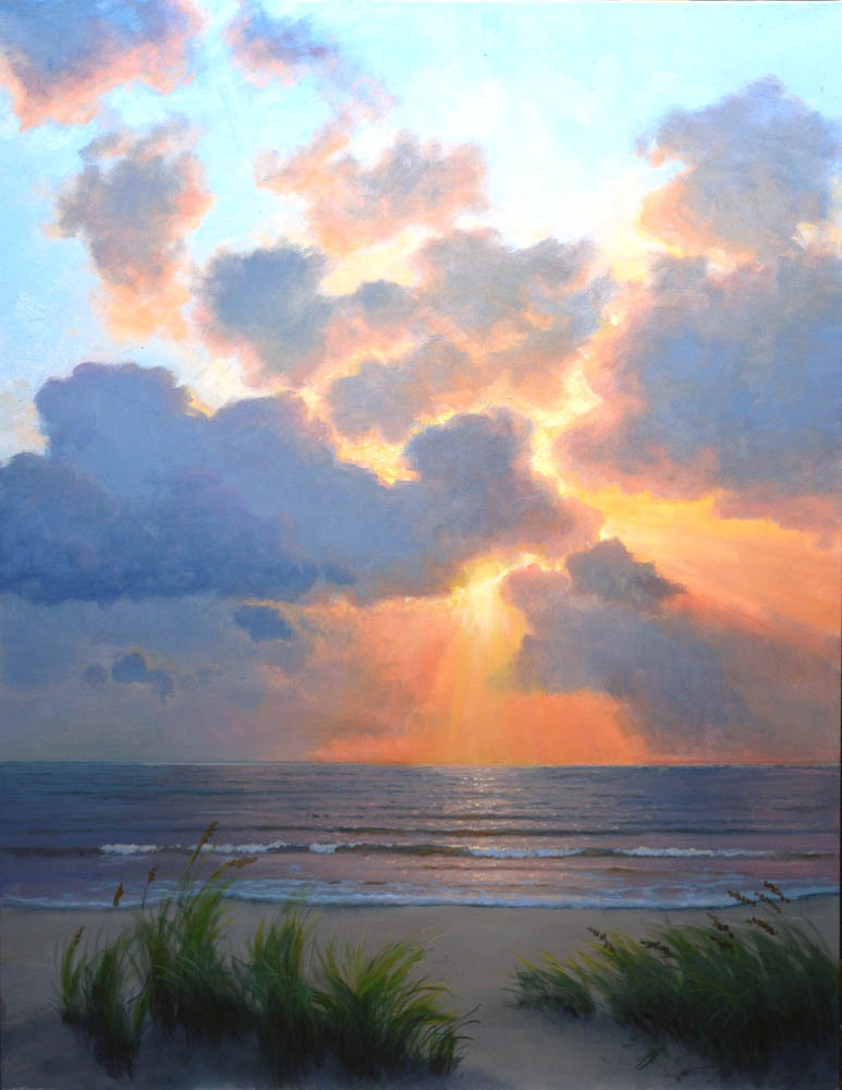 """New Day's Beginning  40"""" x 30"""" Oil  - SOLD!"""
