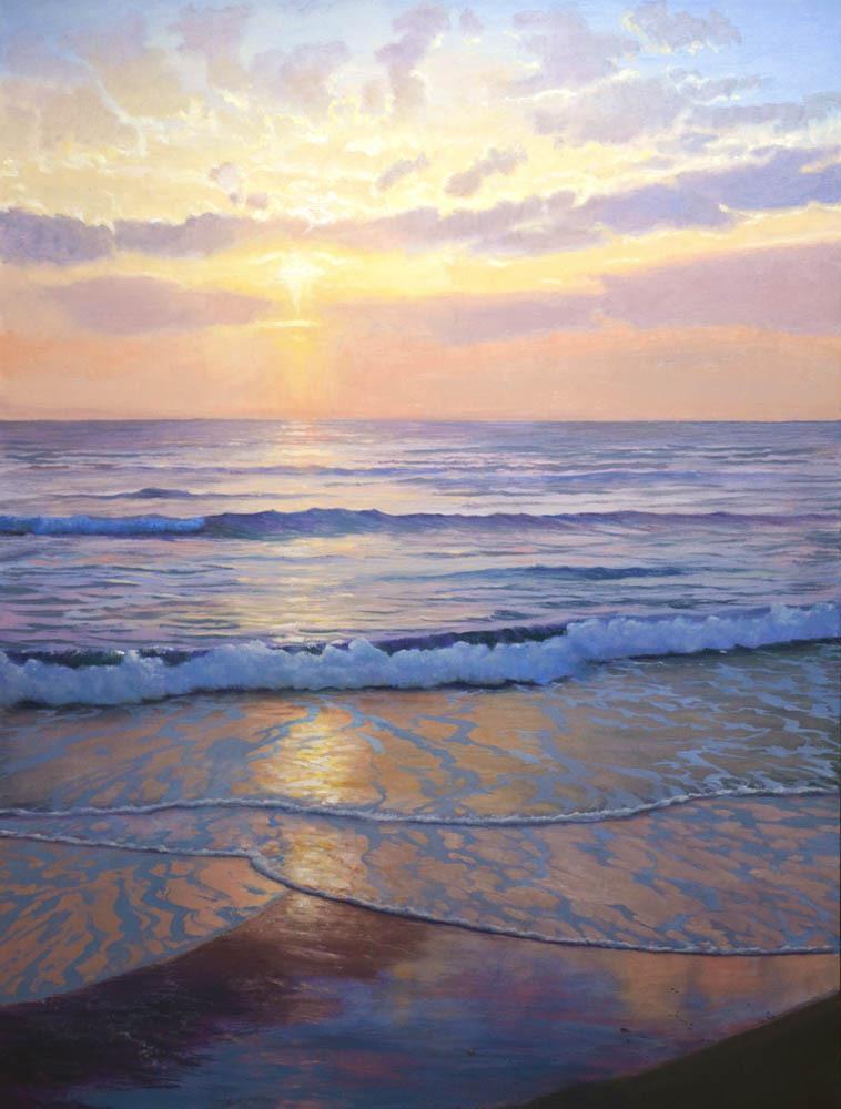 """Resplendent Sunset  48"""" x 36"""" Oil"""