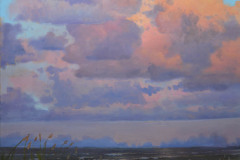 "Dusk's Sudden Glory   40"" x 30"" Oil"