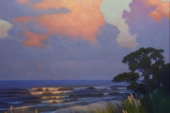 "Golden Isle Evening     40"" x 30"" Oil"