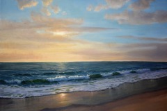 "Morning Beach   30"" x 40"" Oil"
