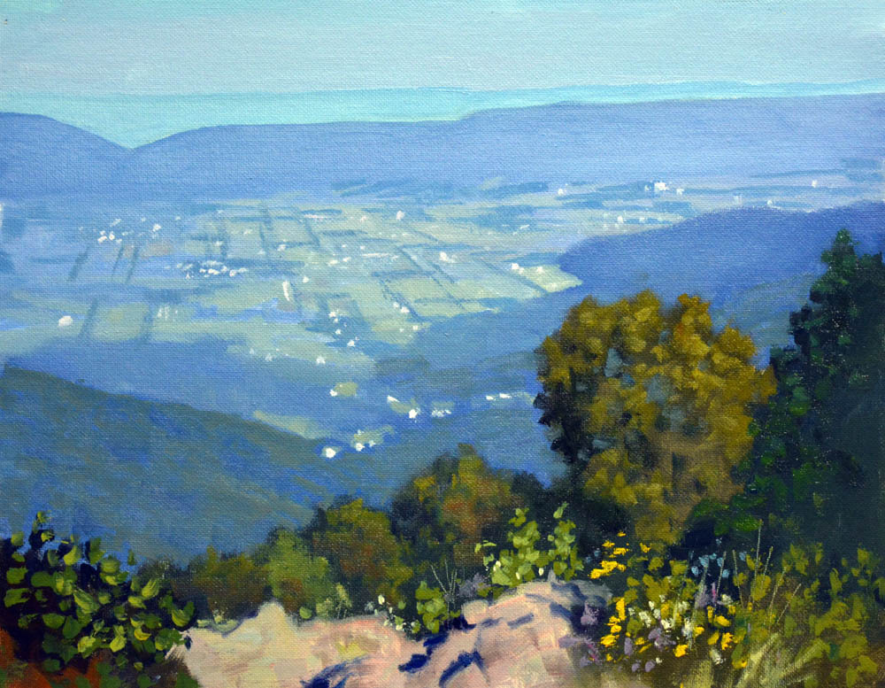 "Morning Franklin Cliffs Overlook   11"" x 14"" Oil   Gallery Price:  $2,400   Sale Price   $1,200"