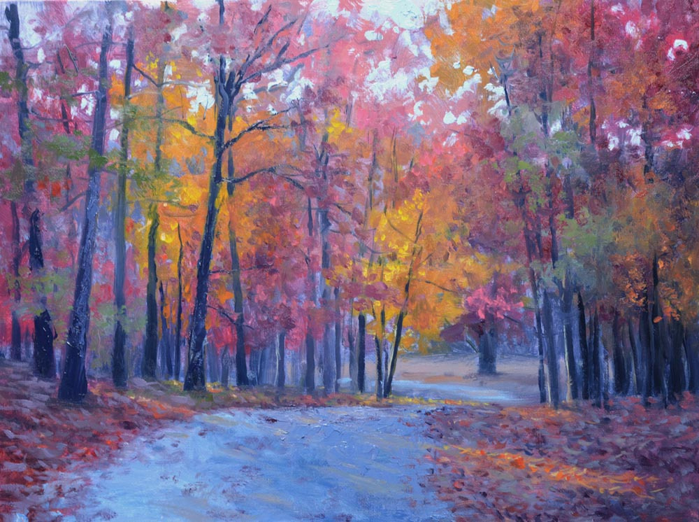 "Autumn Glory  12"" x 16"" Oil   Gallery Price:  $2,600    Sale Price:  $1,300"