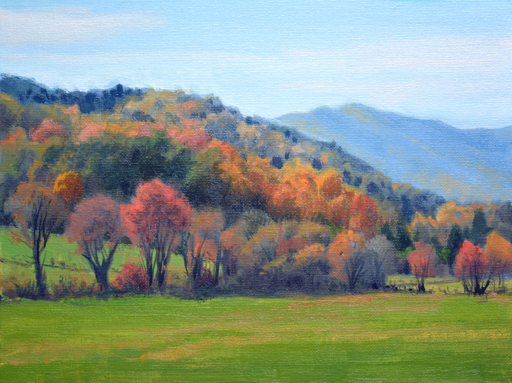 "Autumn Promise      9"" x 12"" Oil   Gallery Price:  $1,800    Sale Price:  $900"