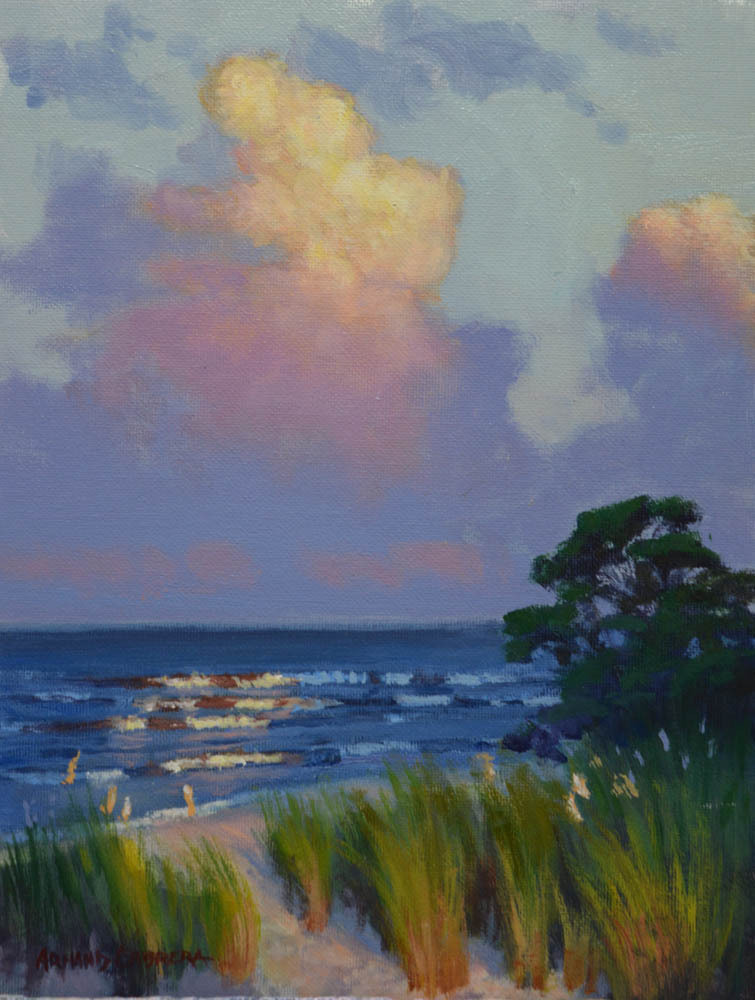 "Evening Light    12"" x 9"" Oil   Gallery Price:  $1,800    Sale Price:  $900"