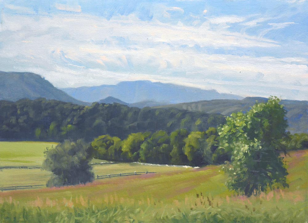 "Late Summer Front Royal   12"" x 16"" Oil   Gallery Price:  $2,600    Sale Price:  $1,300"