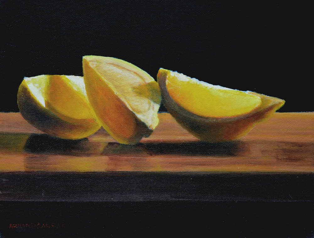 "Lemon      9"" x 12"" Oil   Gallery Price:  $1,800    Sale Price:  $900"