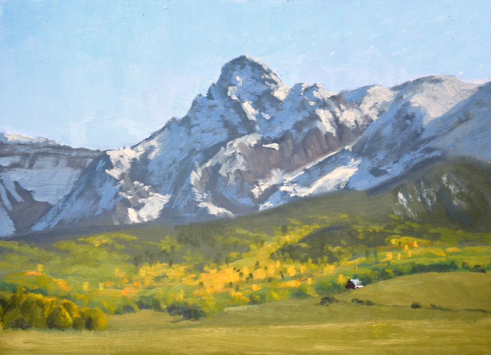 "Mears Peak Afternoon    9"" x 12"" Oil   Gallery Price:  $1,800    Sale Price:  $900"