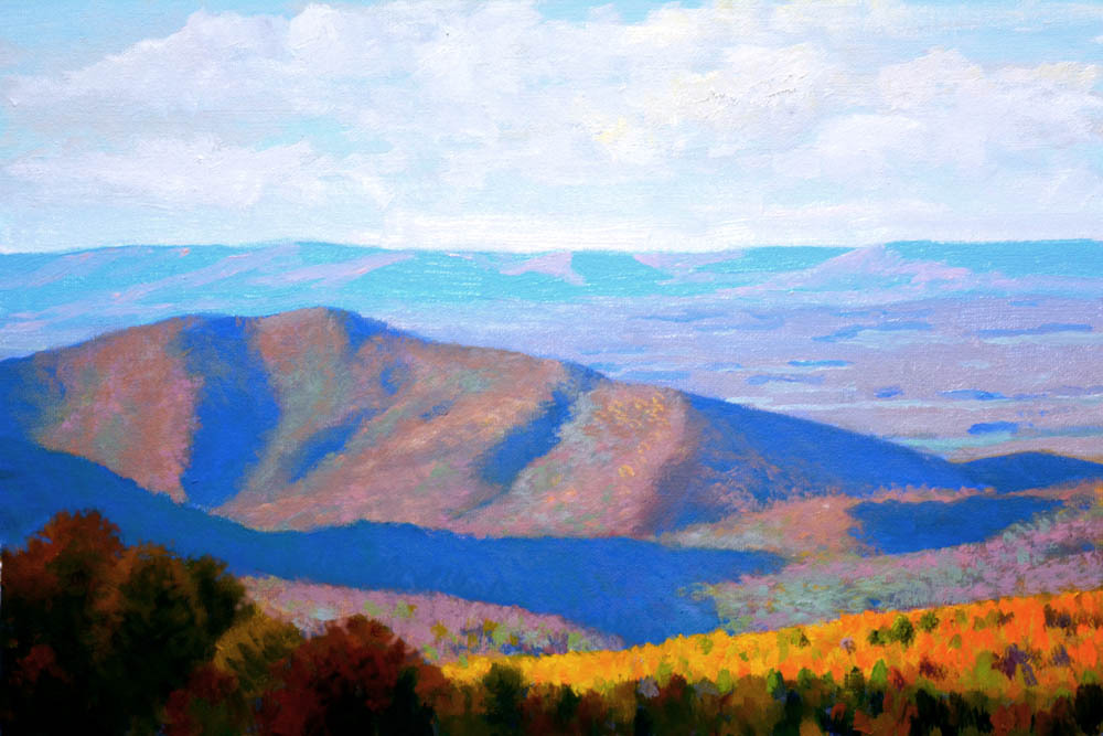 "Morning Over the Shenandoah   12"" x 16"" Oil   Gallery Price:  $2,600    Sale Price:  $1,300"