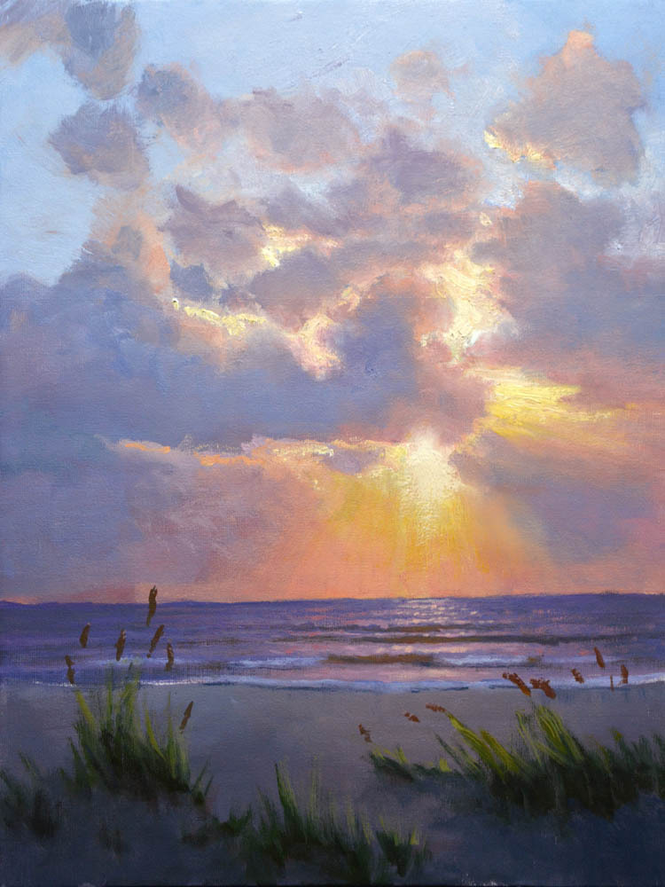 "New Day's Beginning  16"" x 12"" Oil   Gallery Price:  $2,600    Sale Price:  $1,300"