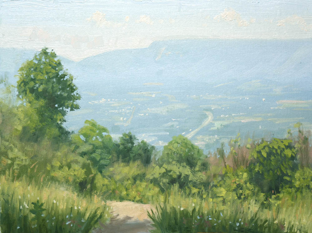 "Pass Mountain Overlook Summer    9"" x 12"" Oil   Gallery Price:  $1,800    Sale Price:  $900"