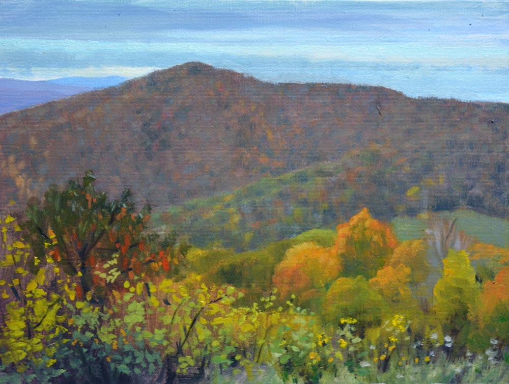"Rainy Day Pass Mountain   9"" x 12"" Oil   Gallery Price:  $1,800    Sale Price:  $900"