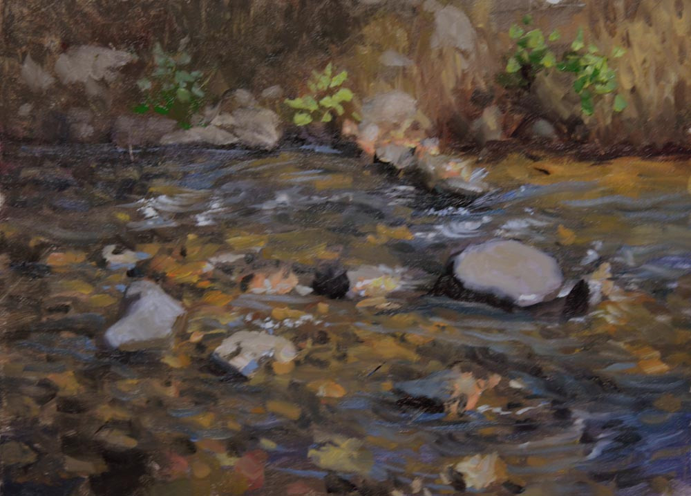 "Streamside    9"" x 12"" Oil   Gallery Price:  $1,800    Sale Price:  $900"