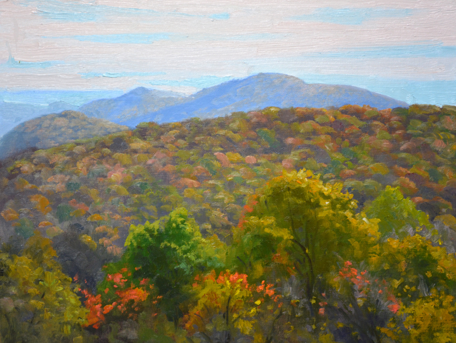 "Thornton Hollow Morning   11"" x 14"" Oil   Gallery Price:  $2,400   Sale Price   $1,200"