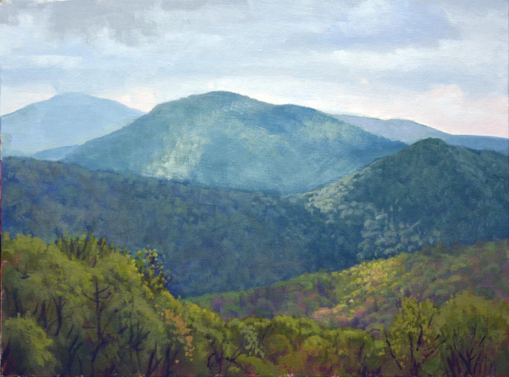 "Thornton Hollow Overlook   12"" x 16"" Oil   Gallery Price:  $2,600    Sale Price:  $1,300"