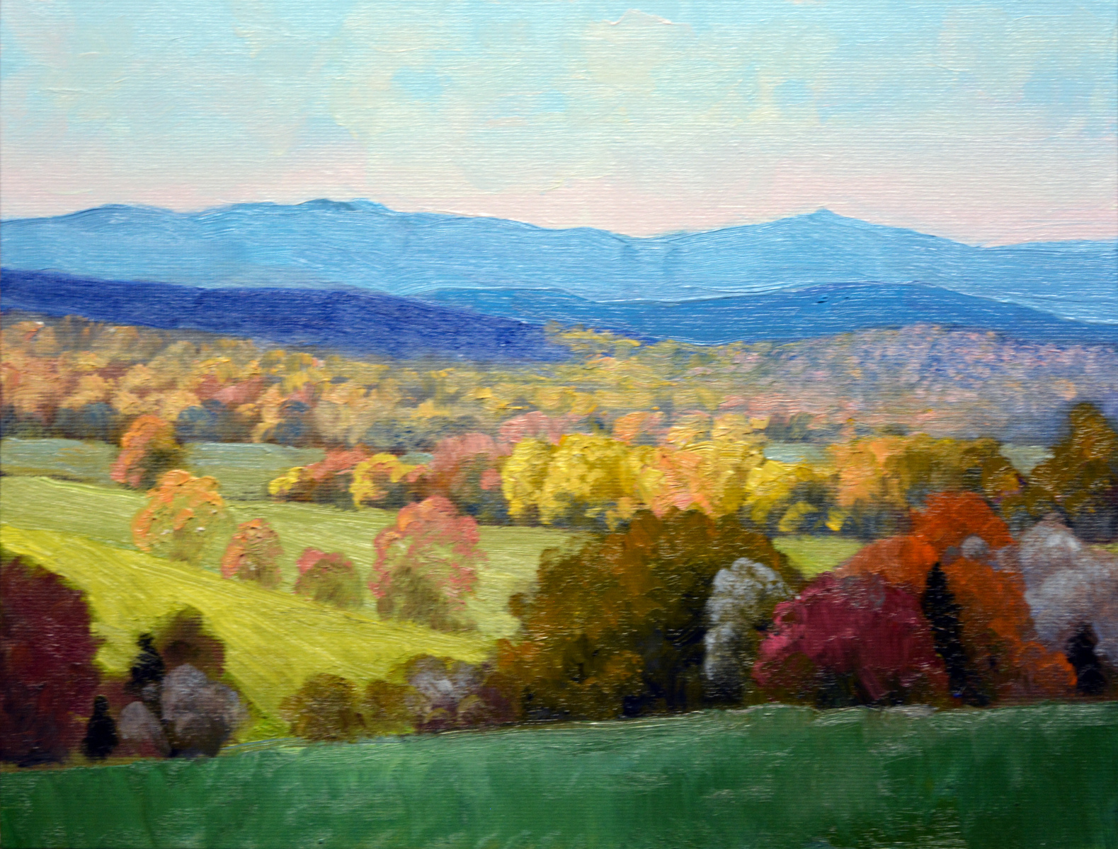 "View of the Blue Ridge    9"" x 12"" Oil   Gallery Price:  $1,800    Sale Price:  $900"