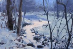 "Winter Stream    12 x 9""  "" Oil   Gallery Price:  $1,800    Sale Price:  $900"