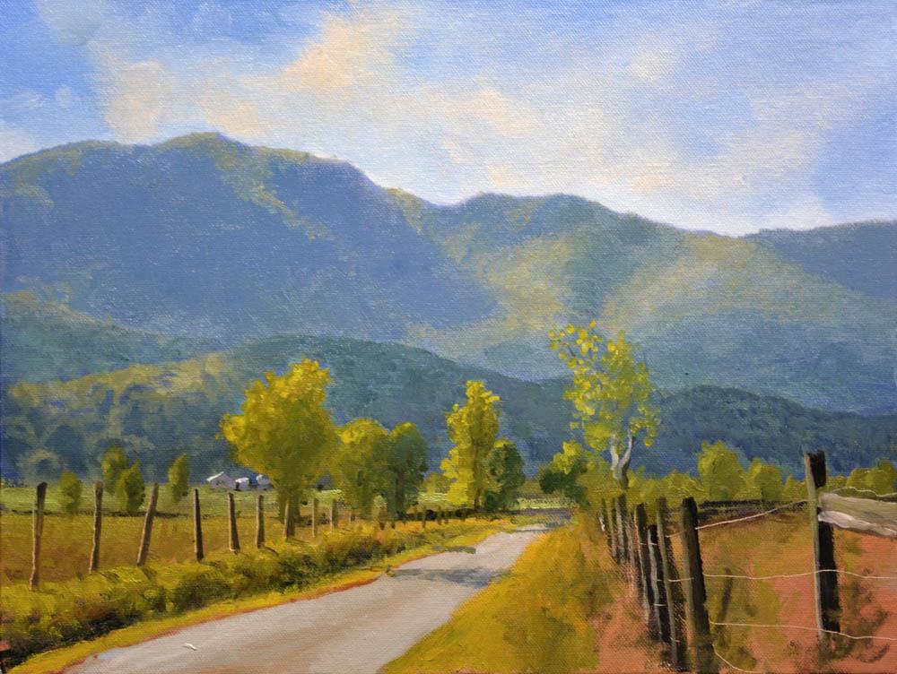"""Blue Ridge Backroads  - 12"""" x 16"""" Oil    -   $2,600"""