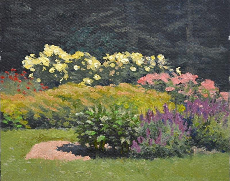 """Roses & Lavender    8"""" x 10"""" Oil  - $1.400"""