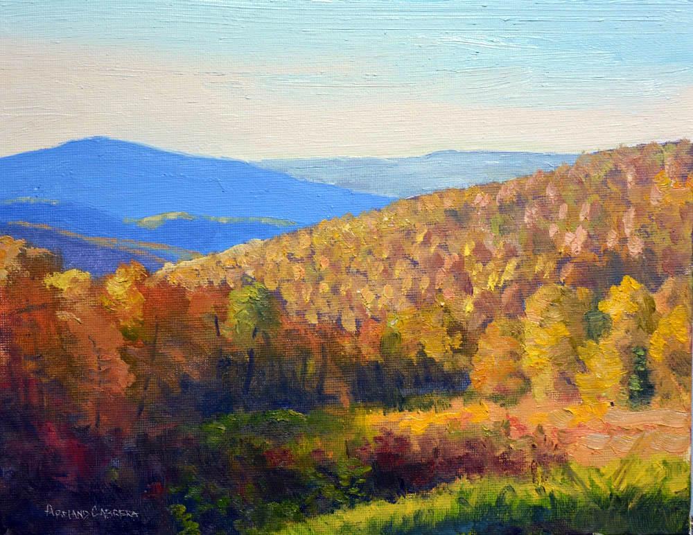 """Autumn Majesty     8"""" x 10"""" Oil      $1,600"""