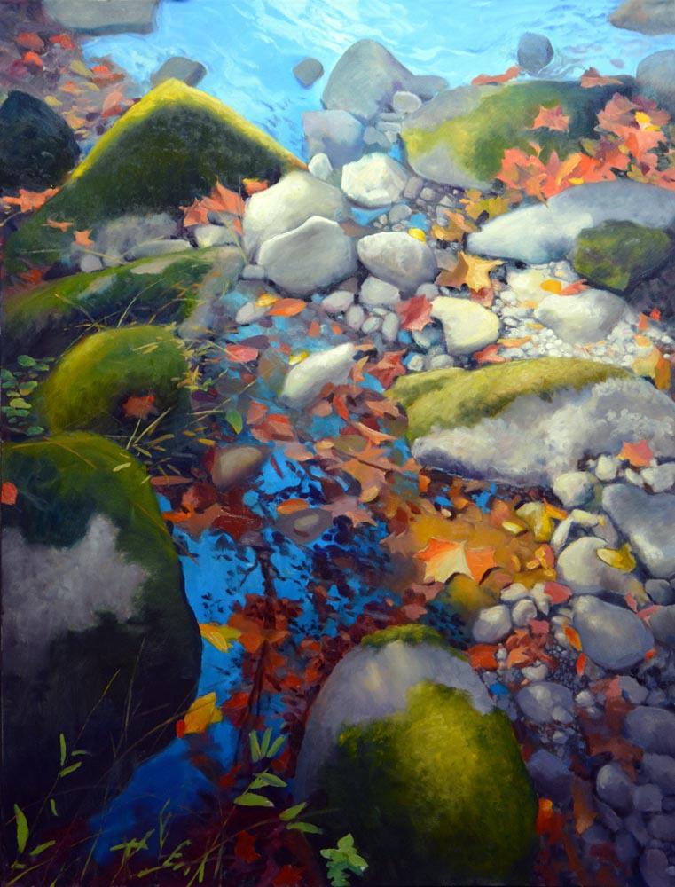 """Autumn Remnants    48"""" x 36"""" Oil   :  $14,000"""