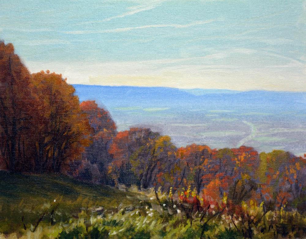 "Blue Ridge Evening Pass Mountain    11"" x 14"" Oil  -  $2,400"