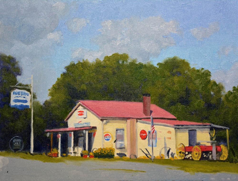 "Blue Ridge Grocery  - 11"" x 14"" Oil  -   $2,400"
