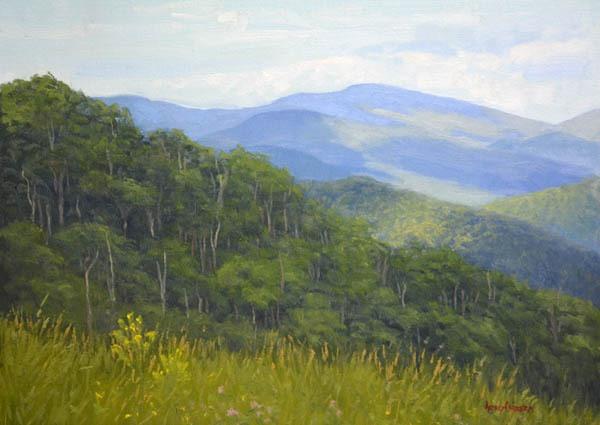 "Blueridge Spring   - 12"" x 16"" Oil    -  $2,600"