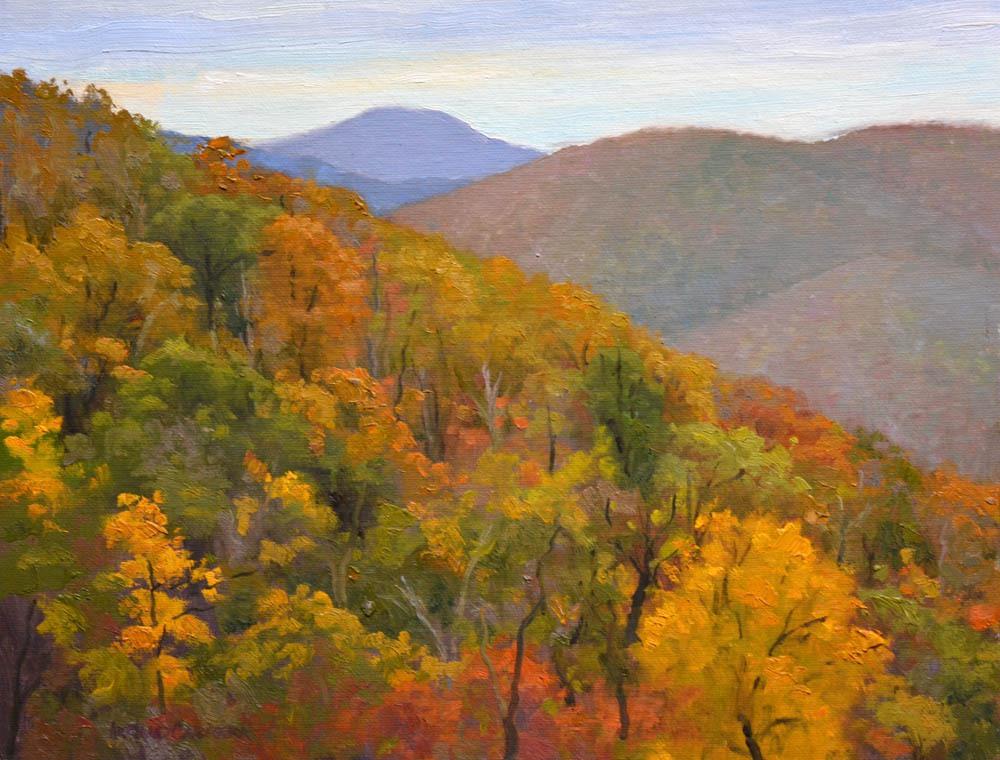 """Buck Hollow November   - 11"""" x 14"""" Oil  -  $2,400"""