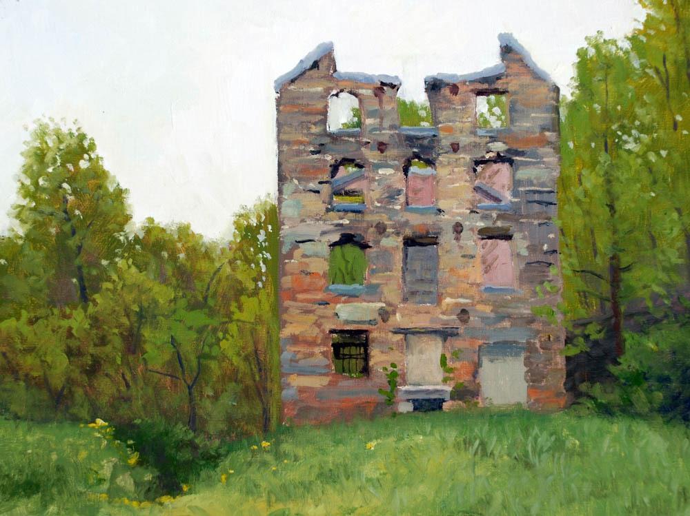 """Chapman's Mill     12"""" x 16"""" Oil  -$2,600"""