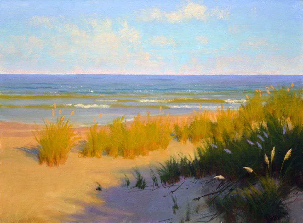 """Chesapeake Sea Oats     12"""" x 16"""" Oil      $2,600"""