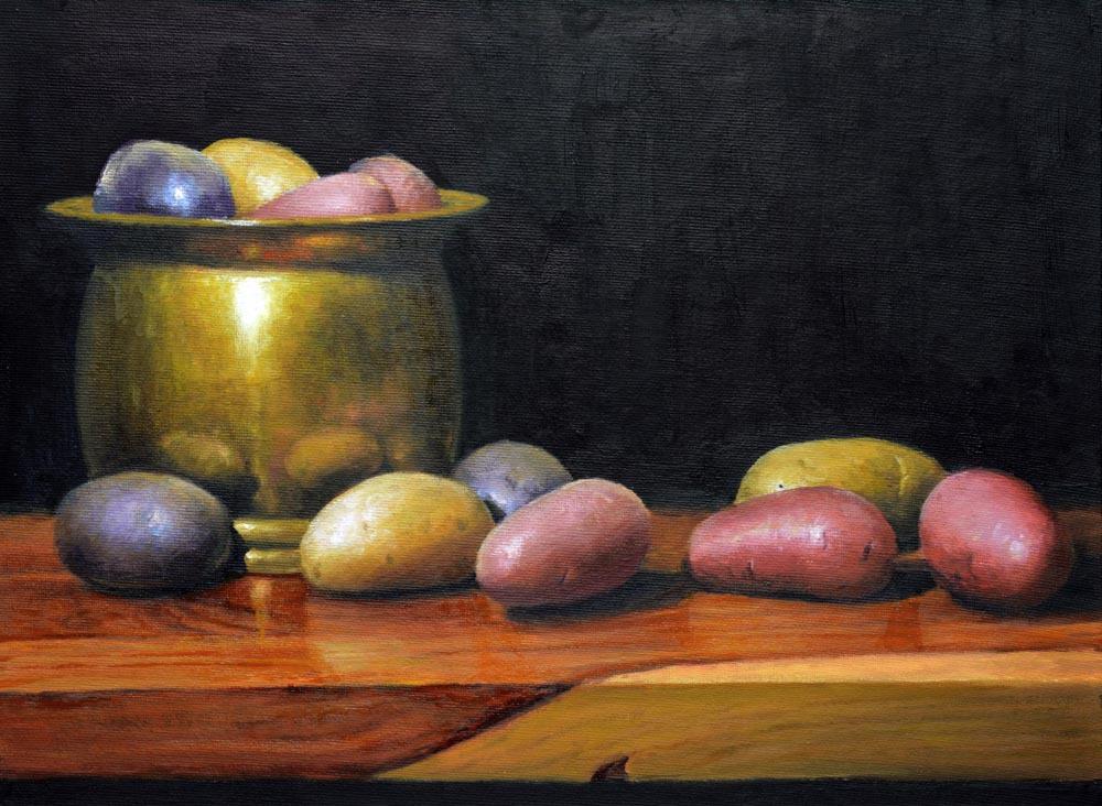 "Heirloom Potatoes    12"" x 16"" Oil     - $2,600"