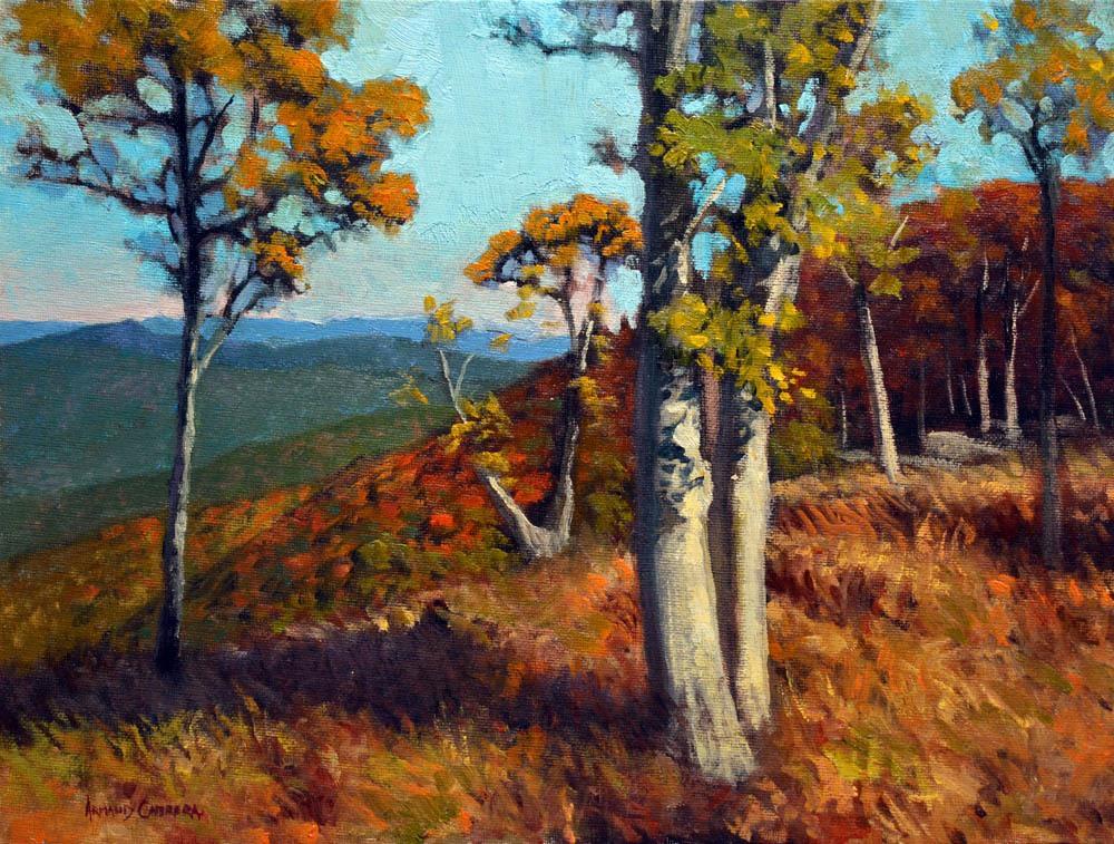 "Jewel Hollow Autumn    12"" x 16"" Oil  -  $2,600"