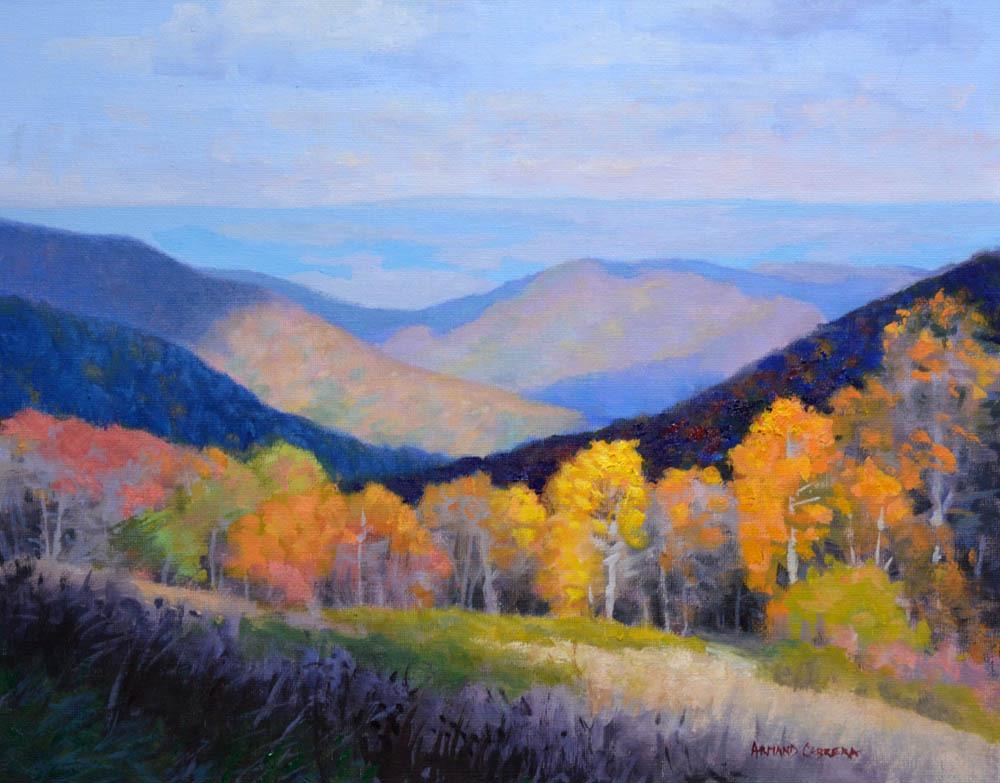 """Peak of Autumn   - 11"""" x 14"""" Oil  -  $2,400"""