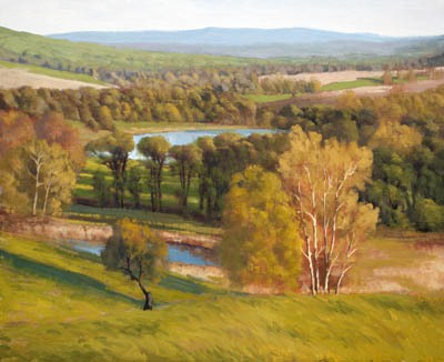 "Spring Evening Sky Meadow Park     20"" x 24"" Oil      $4,600"