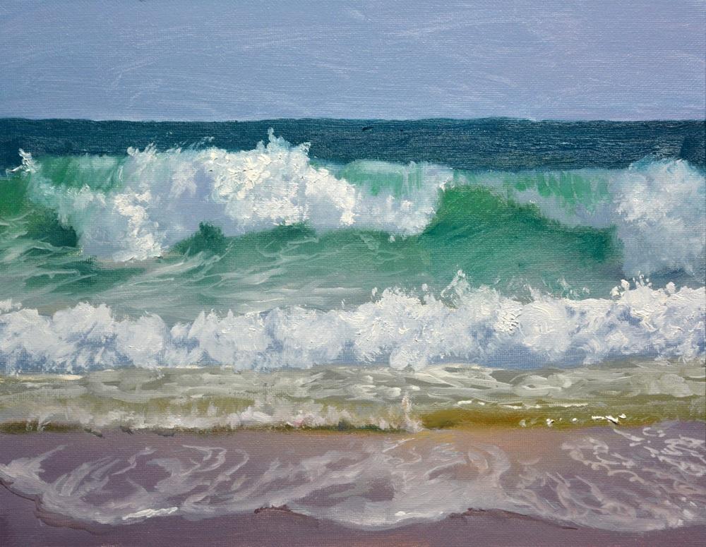 """Turbulent Surf   9"""" x 12"""" Oil   -  SOLD!"""