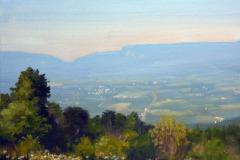 """Pass Mountain Overlook Summer    11"""" x 14"""" Oil   -   $2,400"""