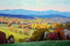 "View of the Blue Ridge  -  9"" x 12"" Oil - $1,800"