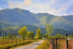 """Blue Ridge Backroads     12"""" x 16"""" Oil      $2,600"""