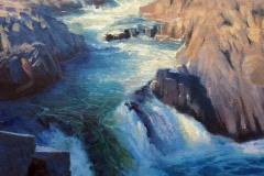 """Great Falls Winter    14"""" x 11"""" Oil    -  $2,400"""