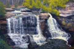 "Late November Blackwater Falls  - SOLD!  12"" x 16"" Oil"