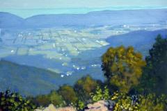 """Franklin Cliffs Overlook     11"""" x 14"""" Oil      $2,400      Shenandoah National Park"""