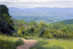 """Pass Mountain Summer  16"""" x 20"""" Oil    $4,200"""