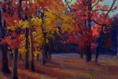 """The Peak of Autumn    8"""" x 10"""" Oil -   $1.400"""
