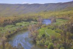 """Shenandoah River Overlook  16"""" x 20"""" Oil    $4,200"""