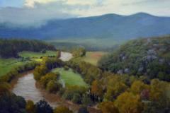 "Shenandoah River Valley Overlook     18"" x 24"" Oil      $4,400"