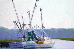"Shrimpers     11"" x 14"" Oil      $1,400"